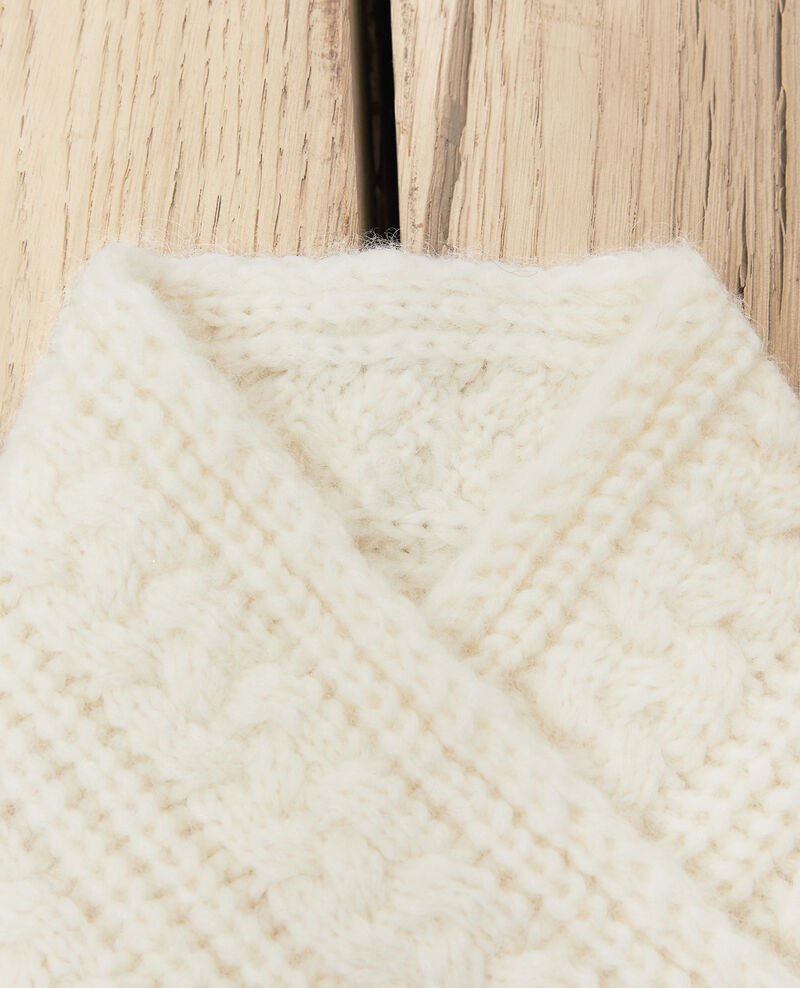 Knitted collar Off white Jidule