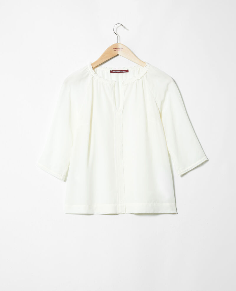 Blouse with silk Off white Jalandre