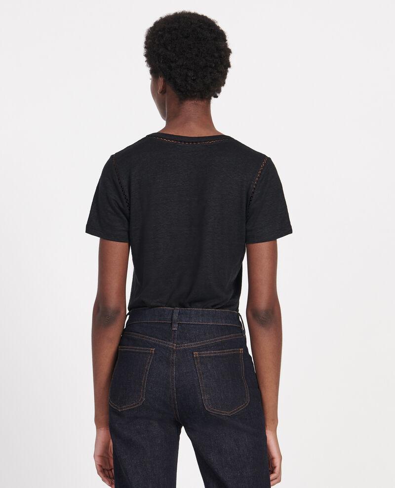 Linen jersey T-shirt Black beauty Lye