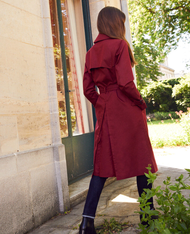 Timeless trench coat Cabernet Jonquille