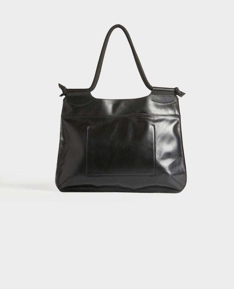 Leather tote Black beauty Penmarch