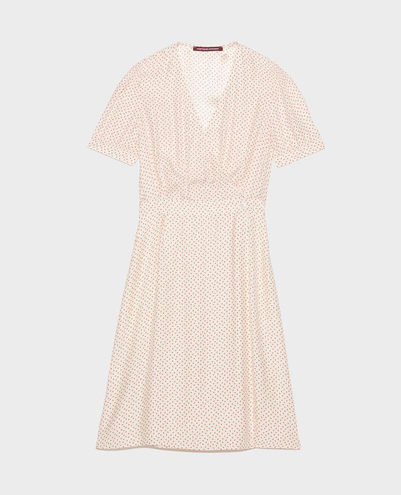 Silk wrap dress Memphis buttercream Leanie