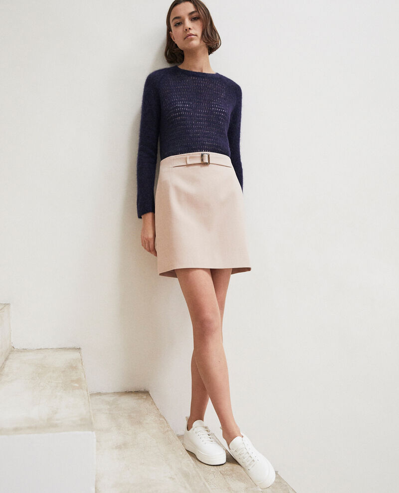 Mini skirt with buckle Pink beige Istanbul