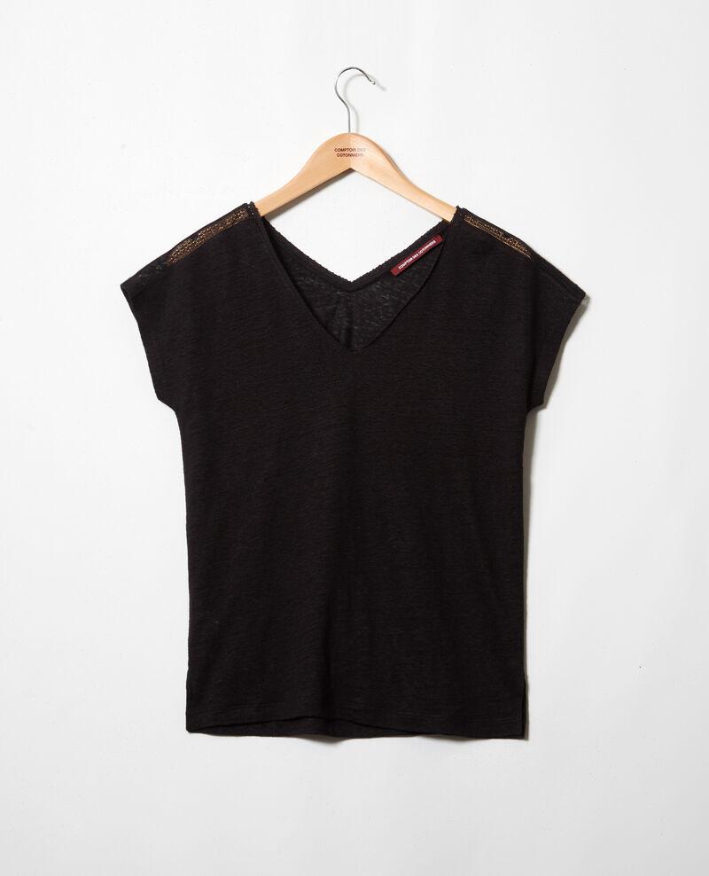 T-shirt with lace Noir Itlanta
