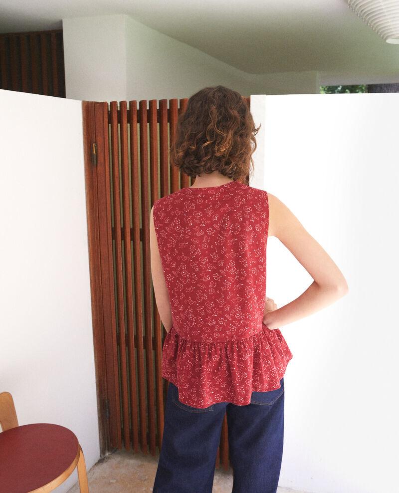 Sleeveless blouse Red Gascon