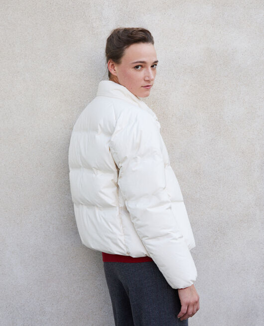 Cosy quilted down jacket  White