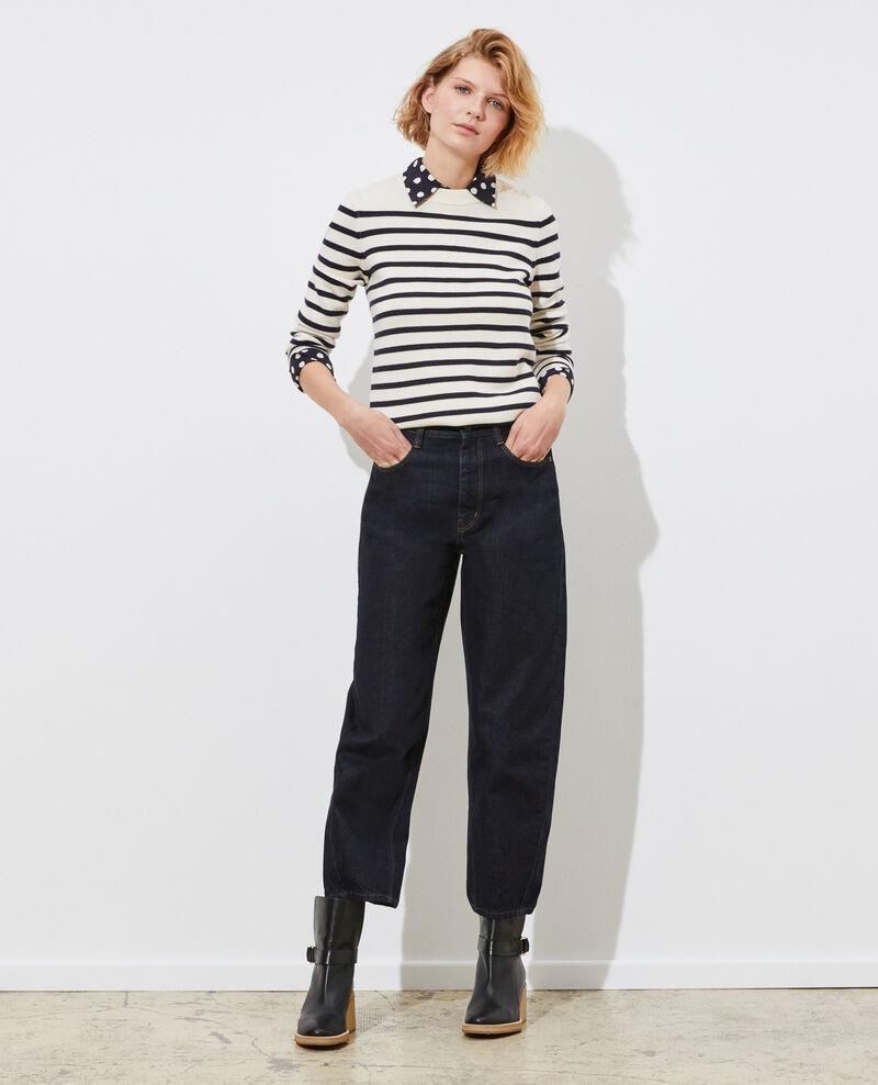MADDY - Striped merino wool jumper Stp jtst nsky Liselle