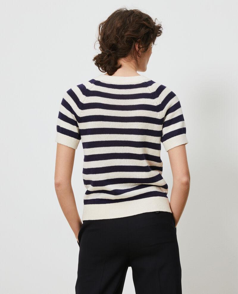 Striped linen and cotton jumper Str maritime butter Licula