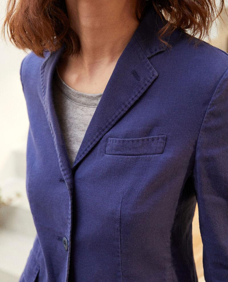 Linen blend blazer Sapphire navy Ibea