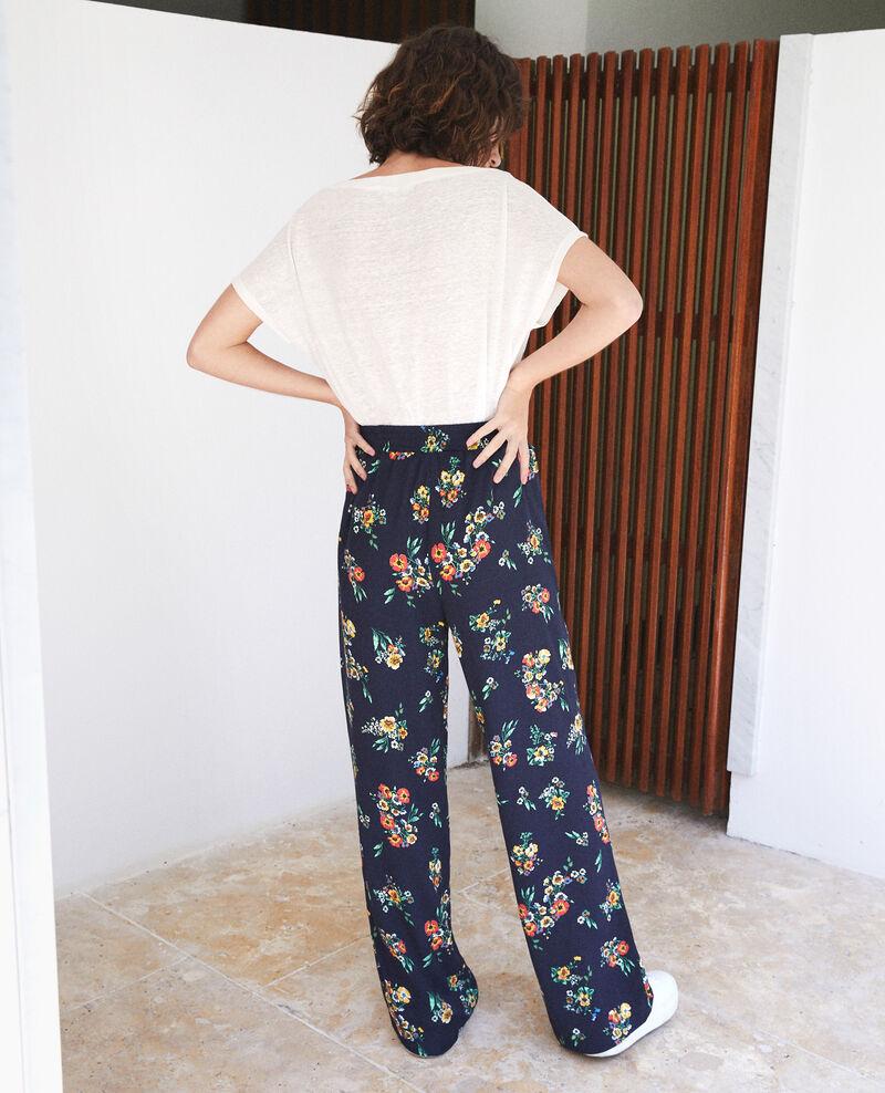 Pyjama-style trousers Blue Flower