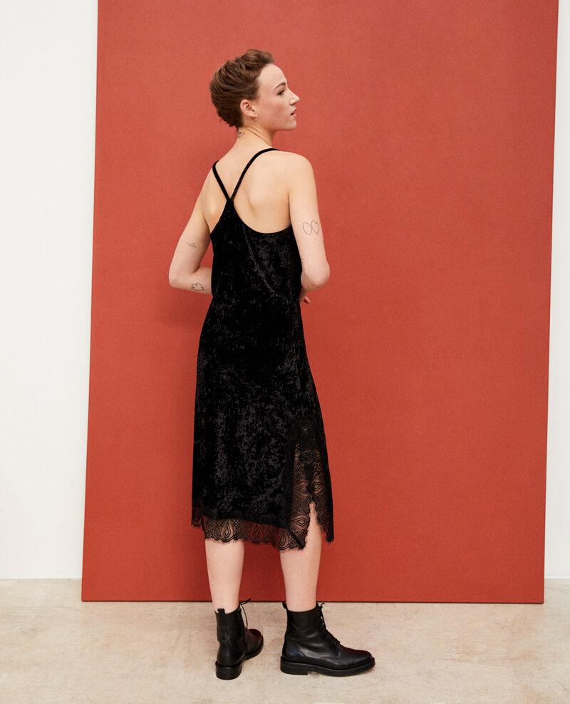 Velvet and lace dress Black Glife