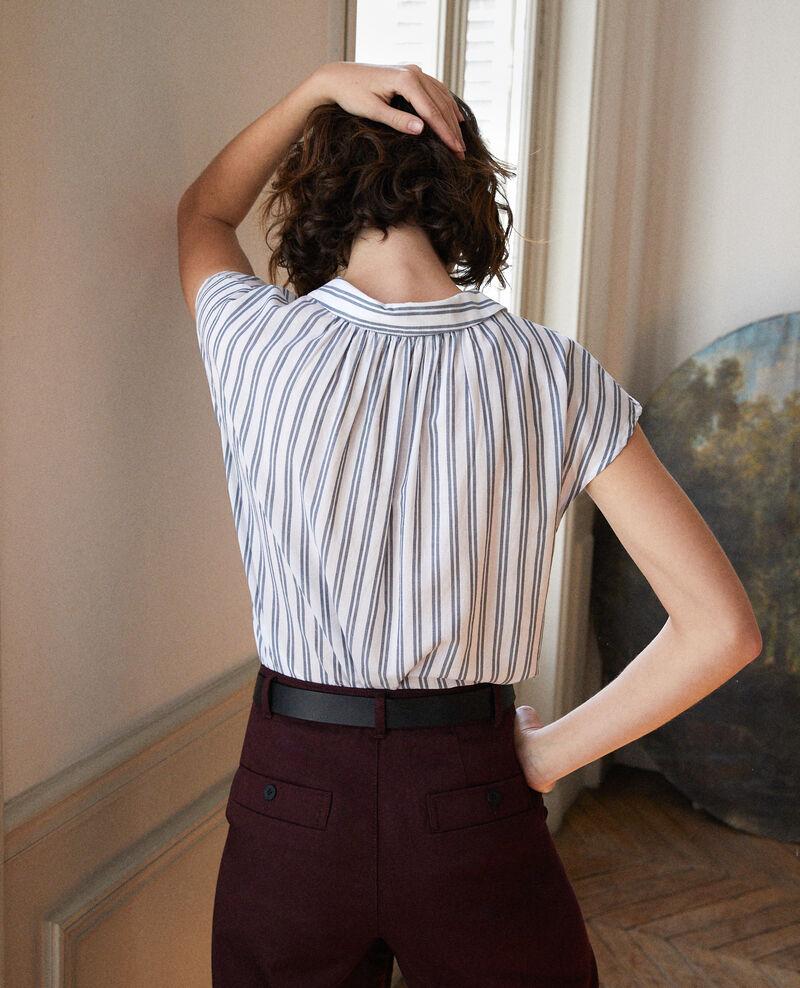 Shirt with round collar Blue Garconne
