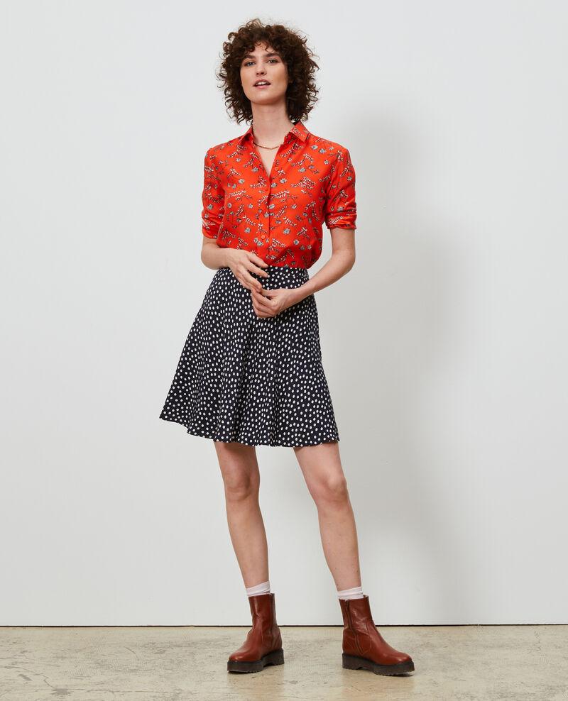 SIBYLLE - Printed silk shirt Coronille spicy Nabilo