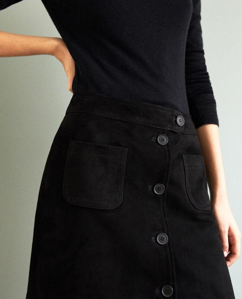 Suede mini skirt Noir Icate