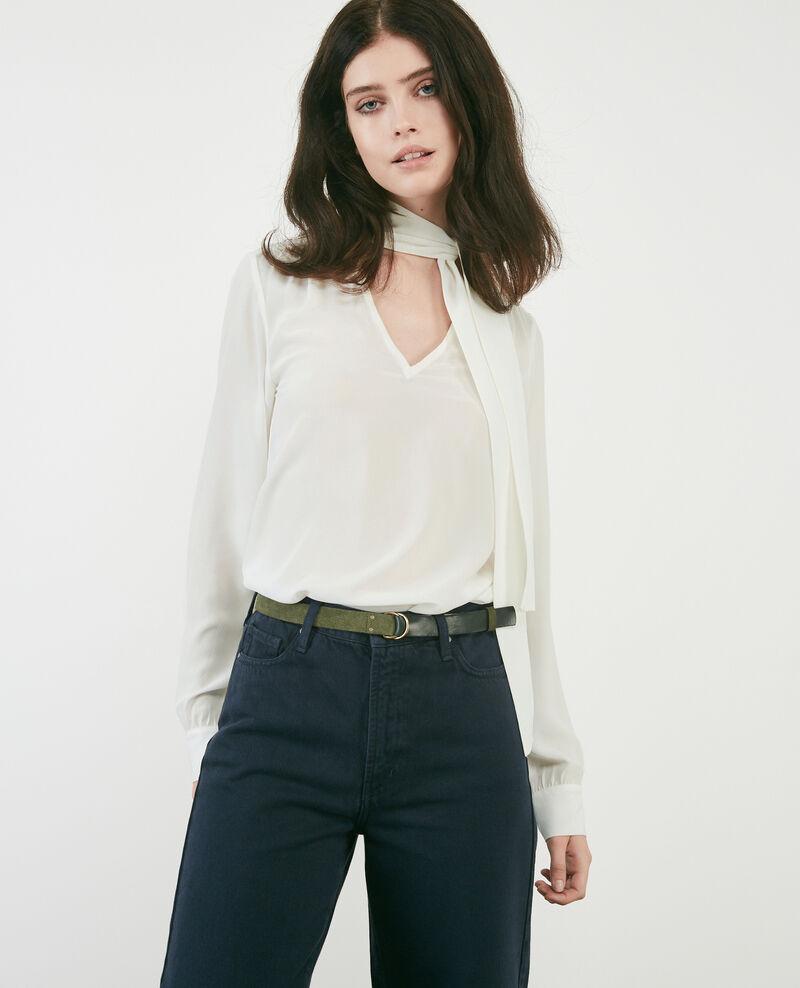 1fb4e60148c62f Silk pussybow blouse Off white - Delivera