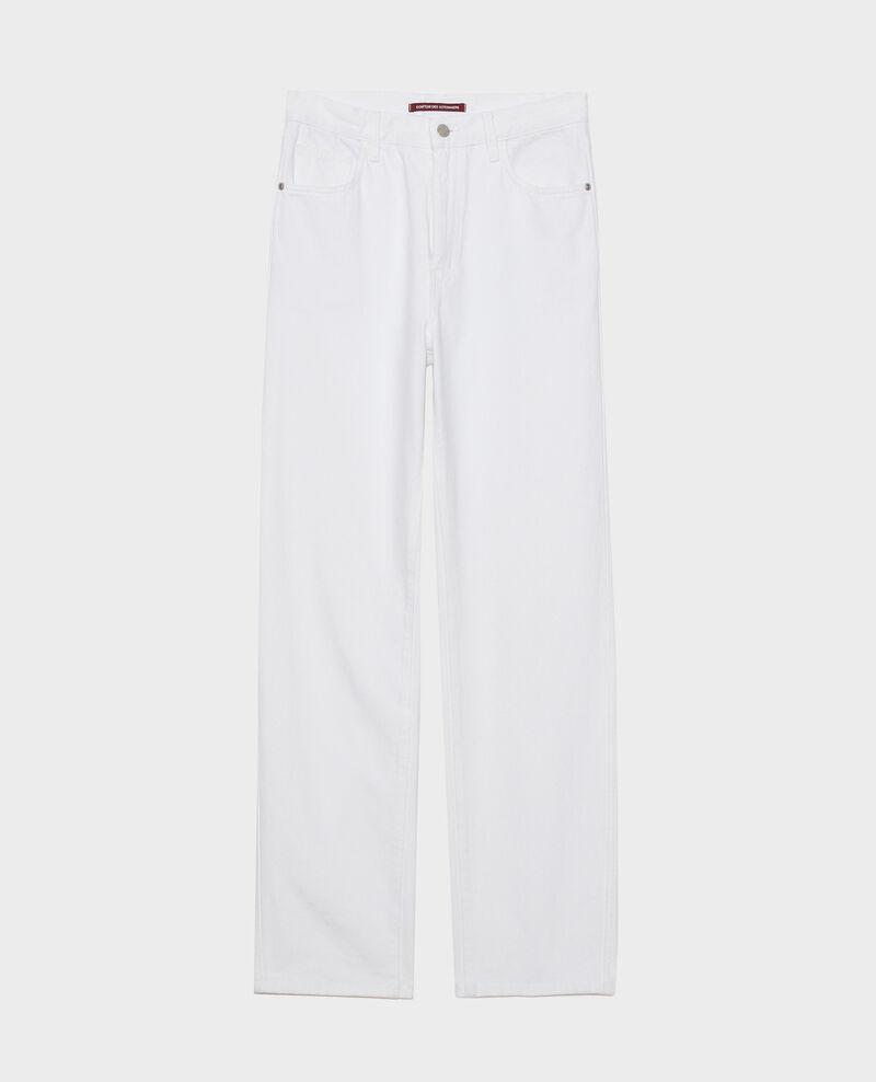 REGULAR - High-waist white jeans Optical white Napur
