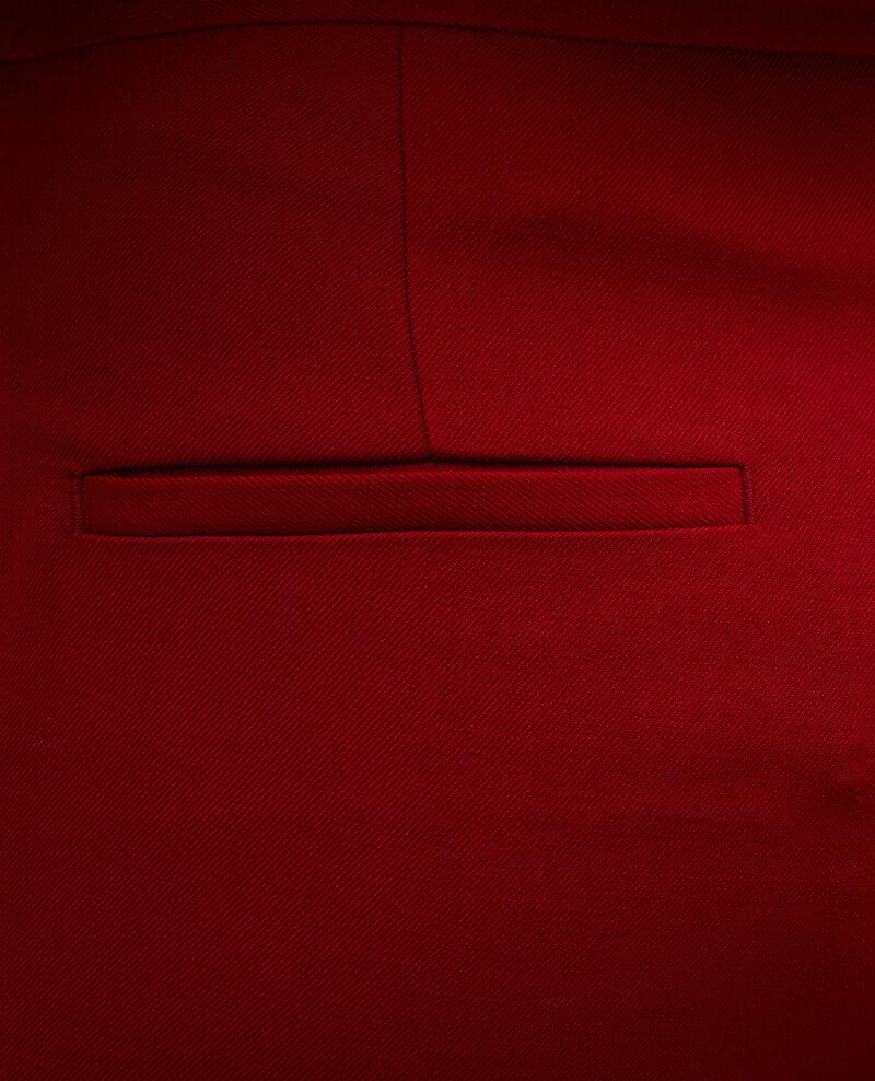 Wool 7/8 cigarette pants MARGUERITE Royale red Moko