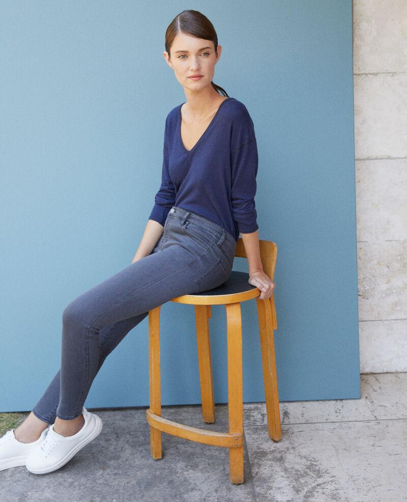 7/8 skinny cropped jeans Grey Griselda