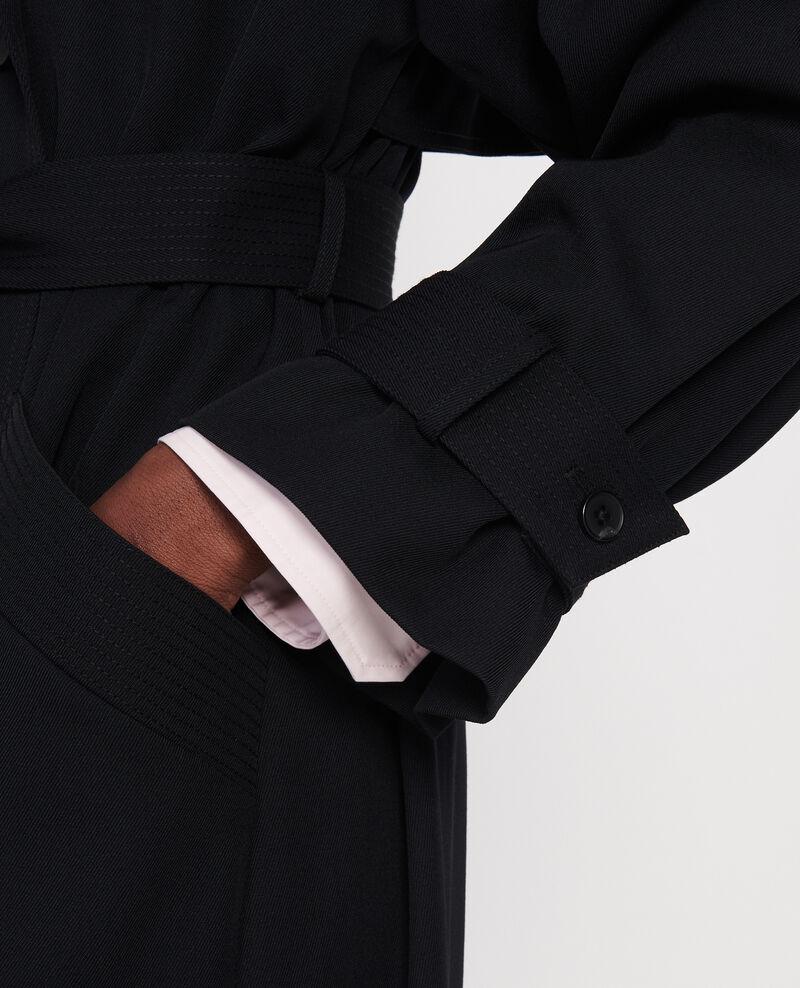 Wool trench coat Noir Laiko