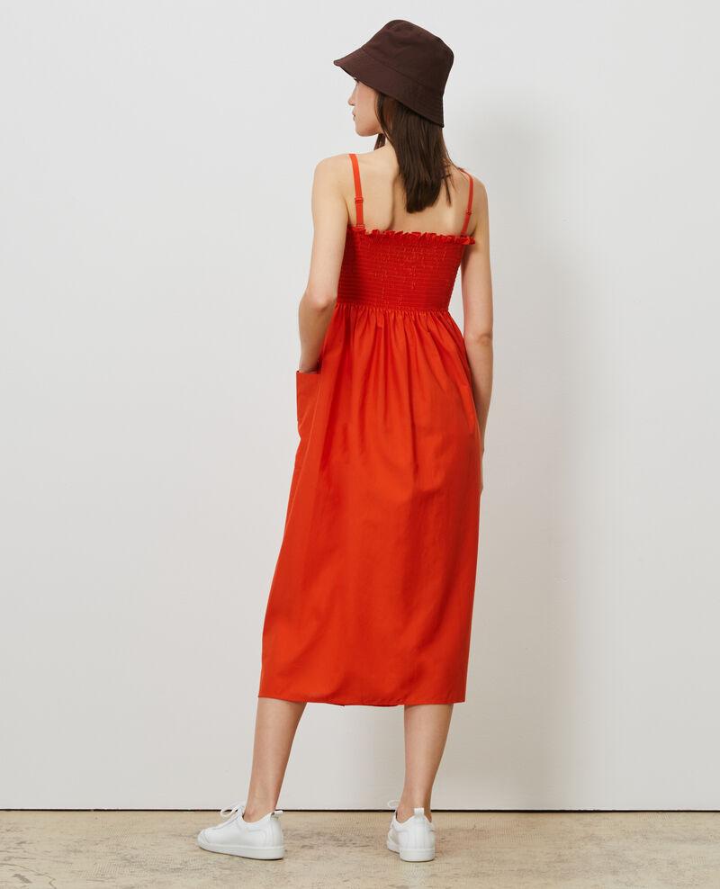 Cotton and silk maxi dress Pureed pumpkin Nassandrou