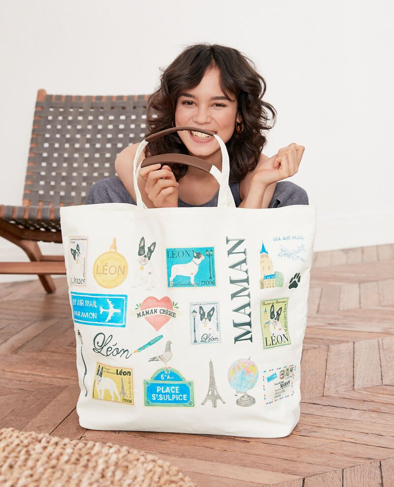 Mother's Day tote bag Off white Factuel