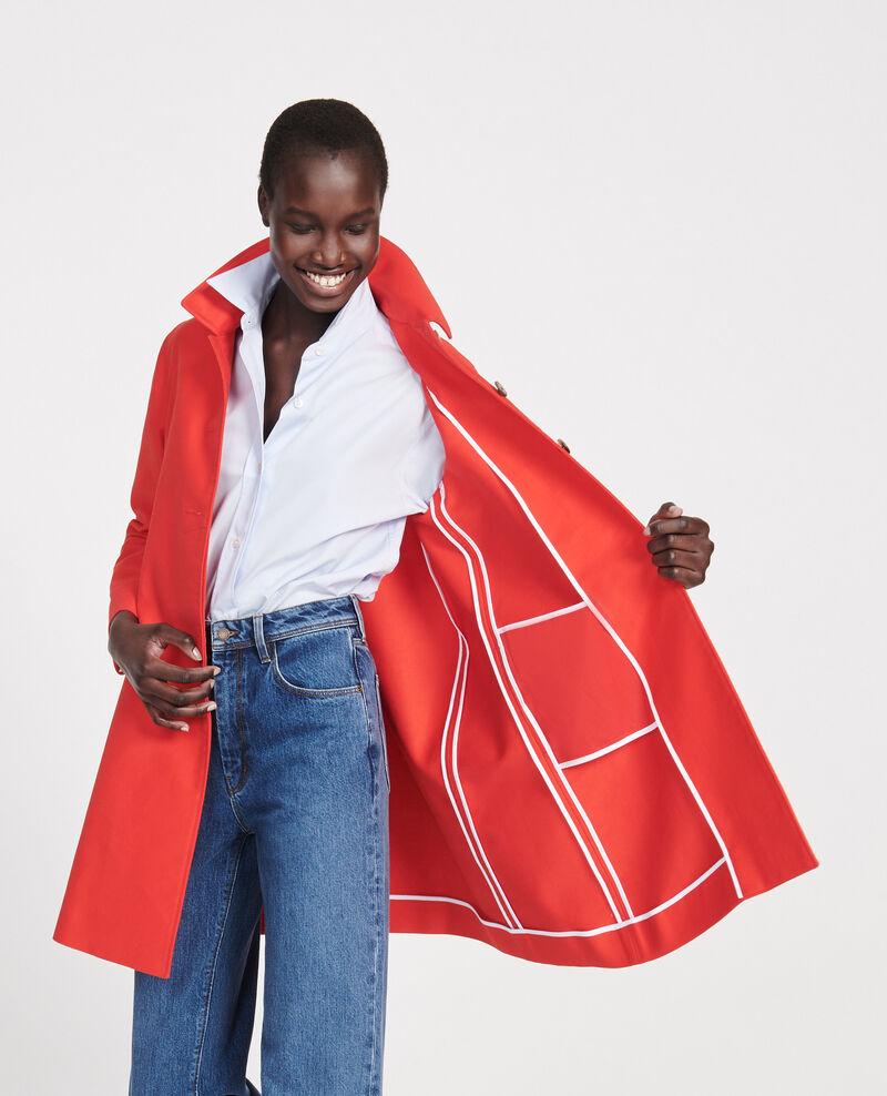 Cotton overcoat Fiery red Loyale