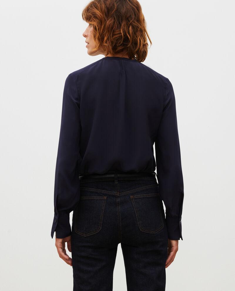 Loose long-sleeve silk shirt Night sky Marboua