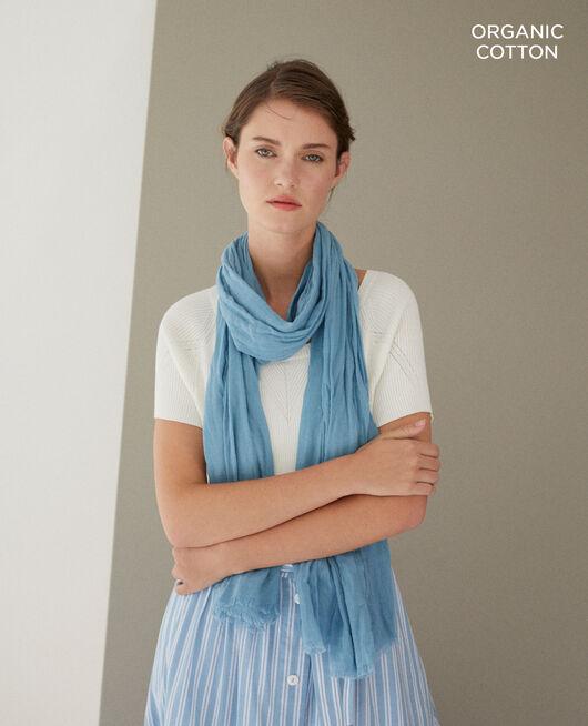 Organic cotton scarf Blue