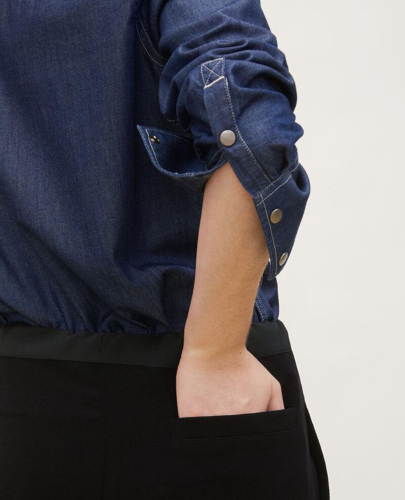 Denim shirt with asymmetric pockets Denim brut Ladigne