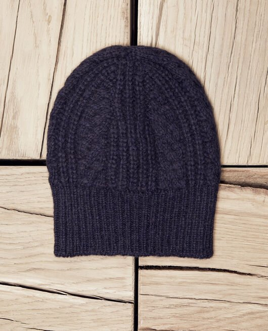 Cable-knit beanie DARK NAVY