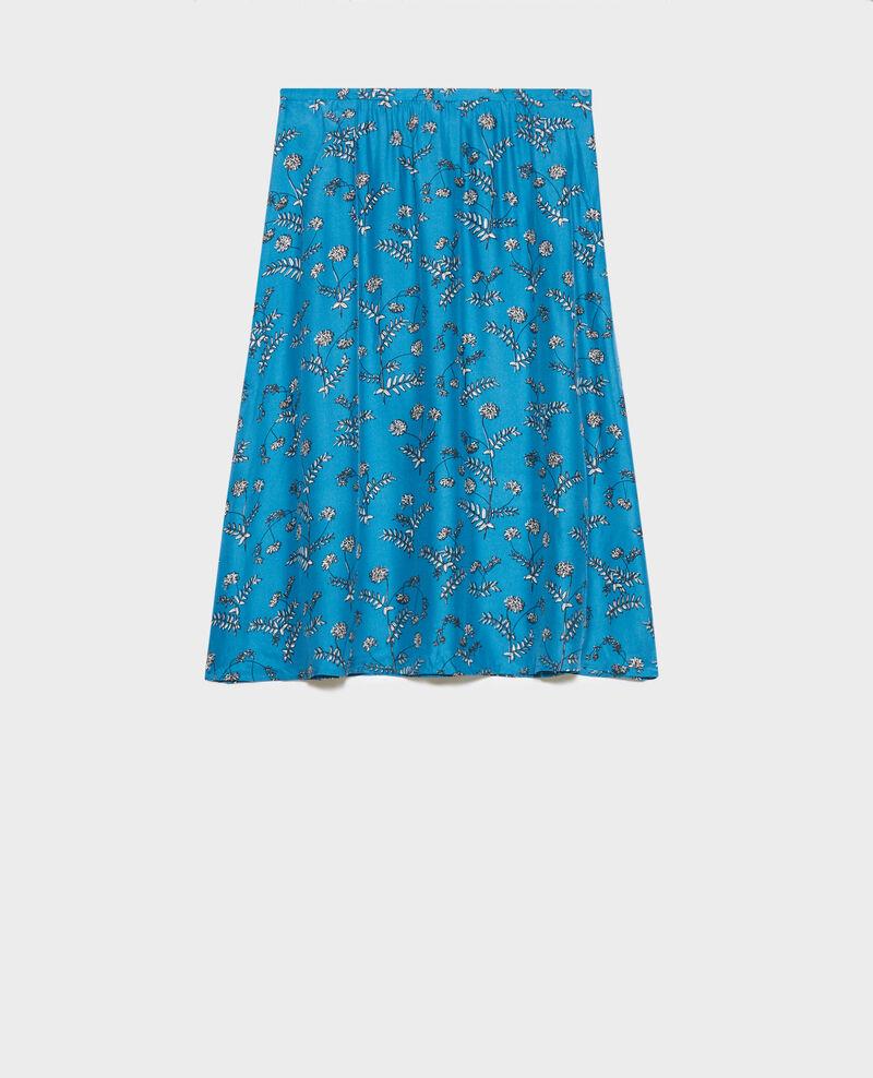 Silk high-waisted skirt Coronille faience Noimise