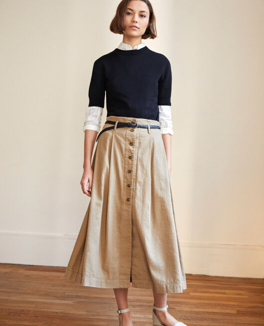 Midi skirt NATURAL BEIGE