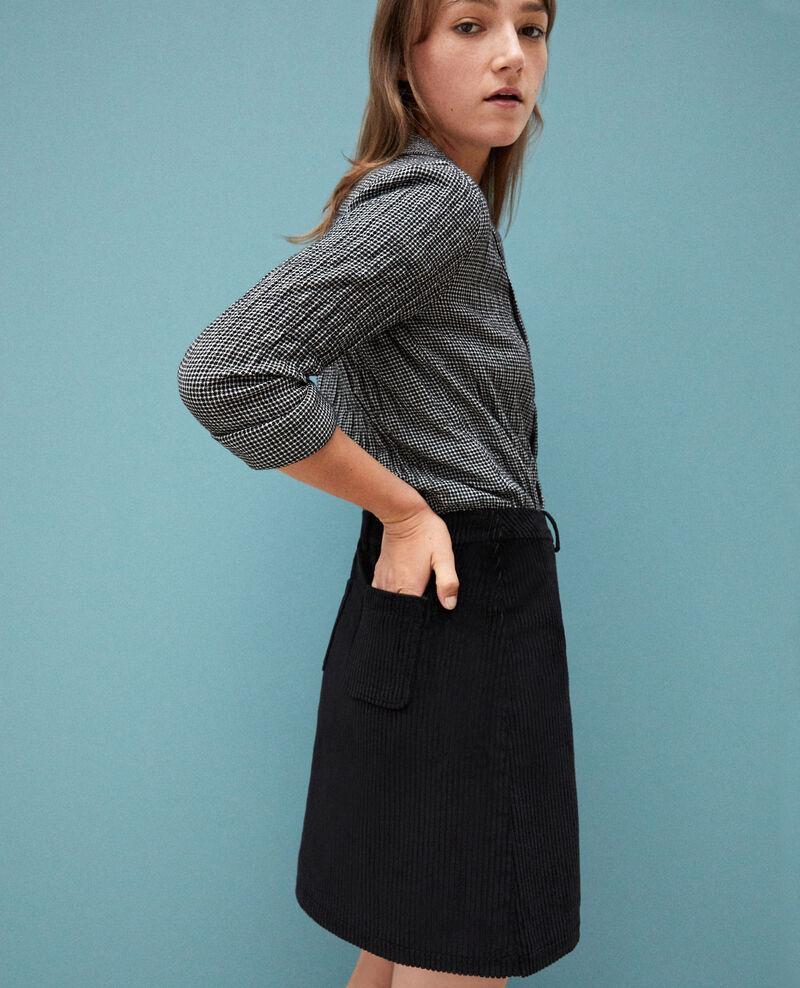 Ribbed corduroy skirt Black 9gammon