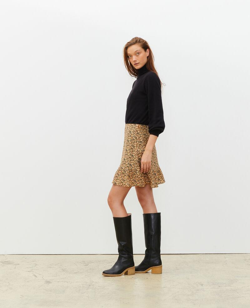 3D fine cashmere turtleneck jumper Black beauty Mane