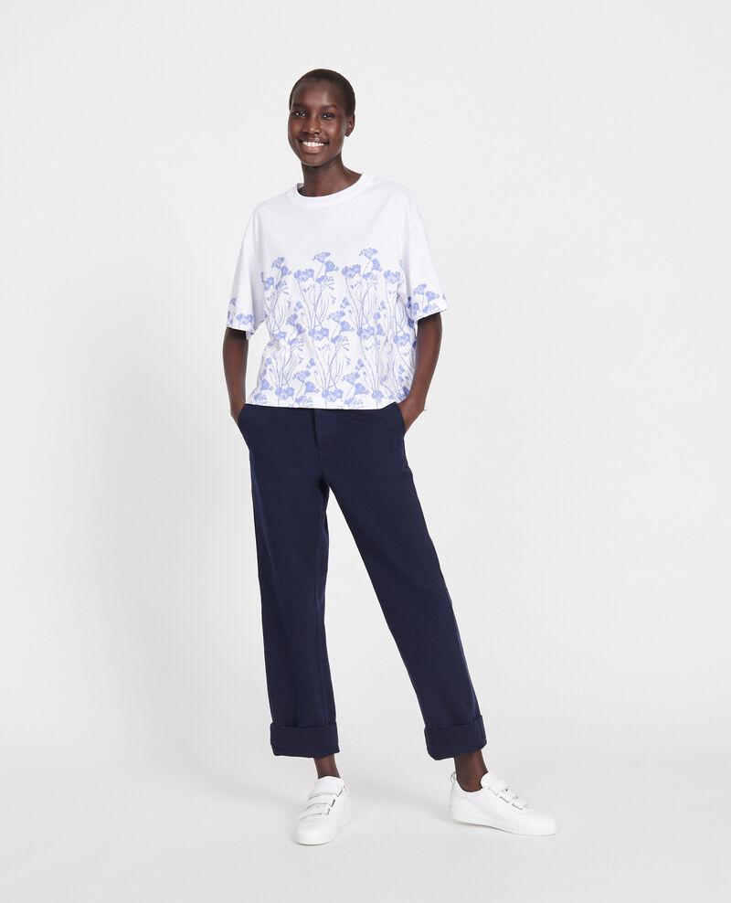 Cotton T-shirt Empreinte gardenia jewel Lenoyera