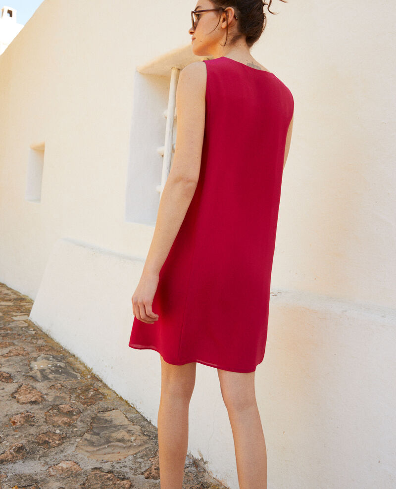 Round neck dress Fushia Idark