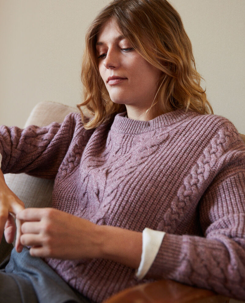 Cable-knit jumper Hushed violet Jop