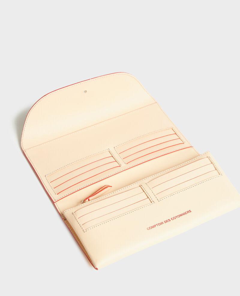 Leather wallet Stripes fiery red gardenia Leroi