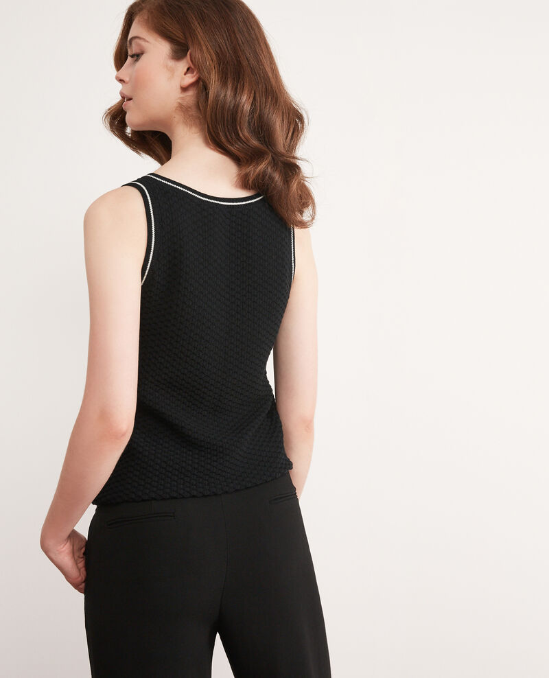 Sleeveless jumper Noir Dabord