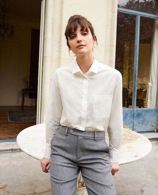 Classic cotton shirt COCONUT MILK