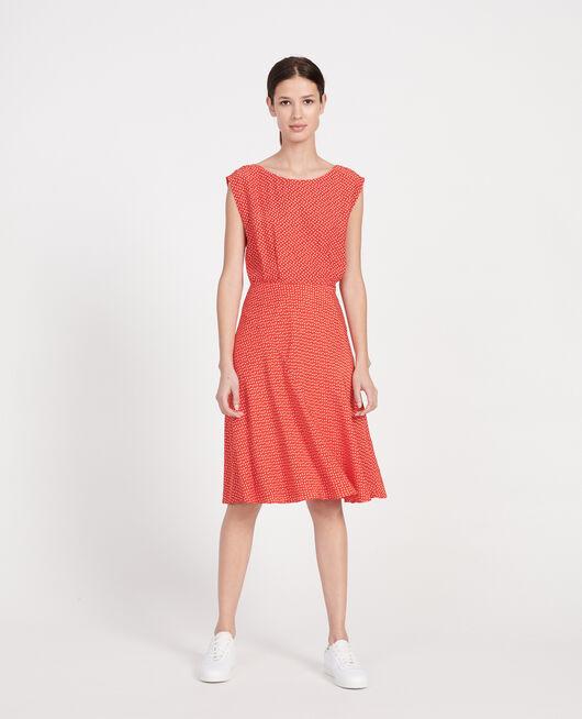 Silk blouse MEMPHIS FIERY RED