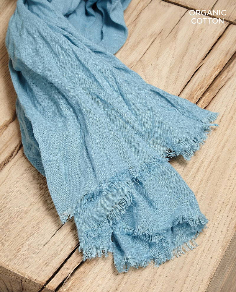 Organic cotton scarf Blue Geste