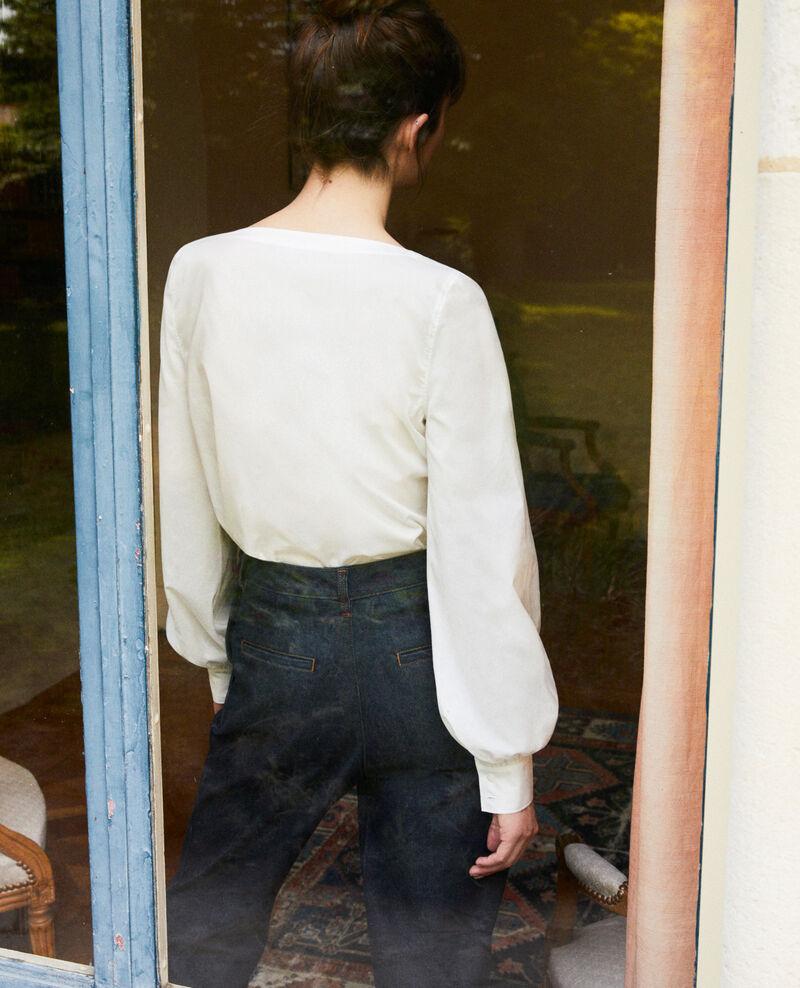 Henley blouse Coconut milk Jaillou