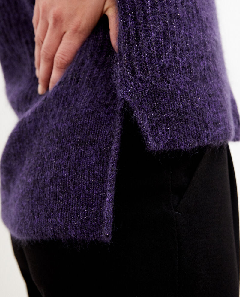 Mohair blend cardigan Purple Guirlande