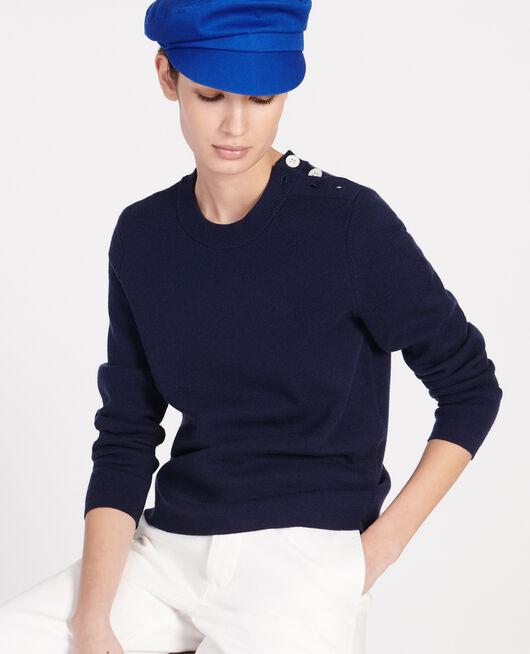 Classic wool jumper MARITIME BLUE