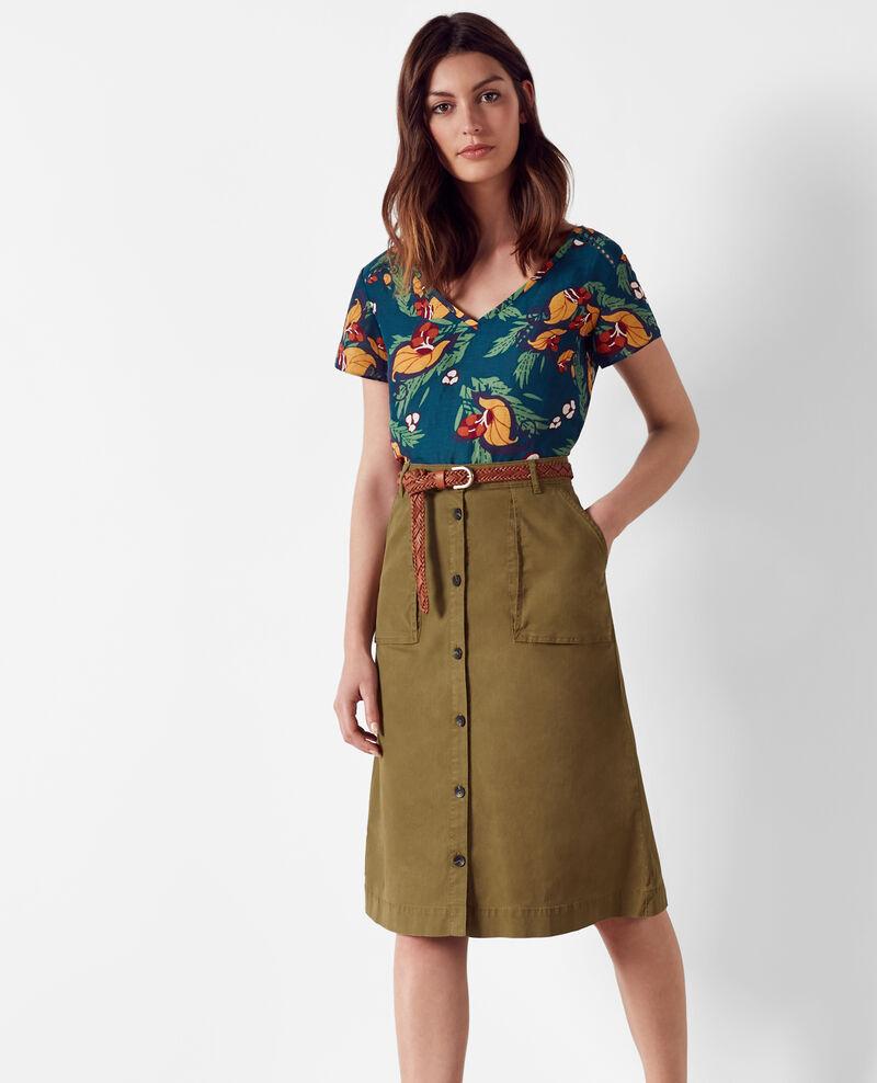 Fabulous Safari-style midi skirt Bronze - Cadette | Comptoir des Cotonniers ZH88