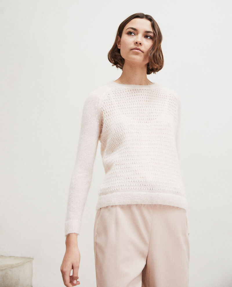 Novelty knit jumper  Light pink Iceo