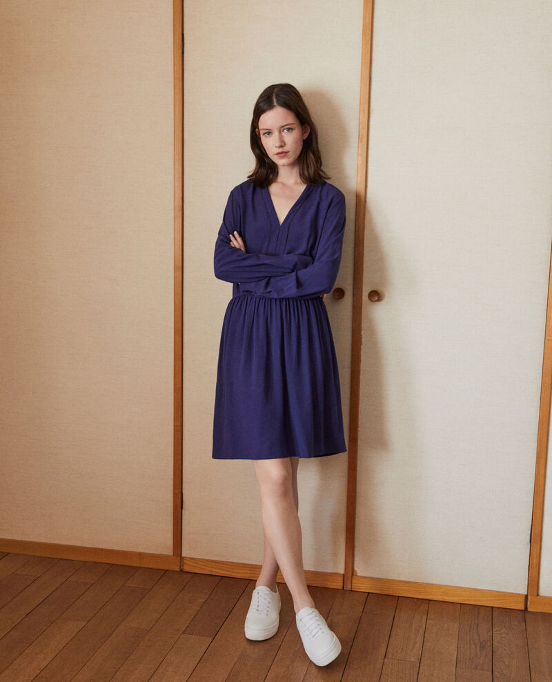 V-neck dress Blue 9ganael