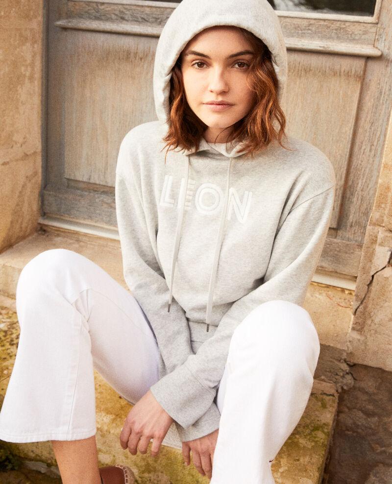 Embroidered Léon sweatshirt Heather gr/ow Inou