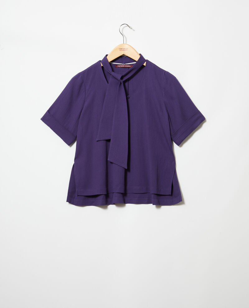 Blouse with removable tie Ink navy Ipex
